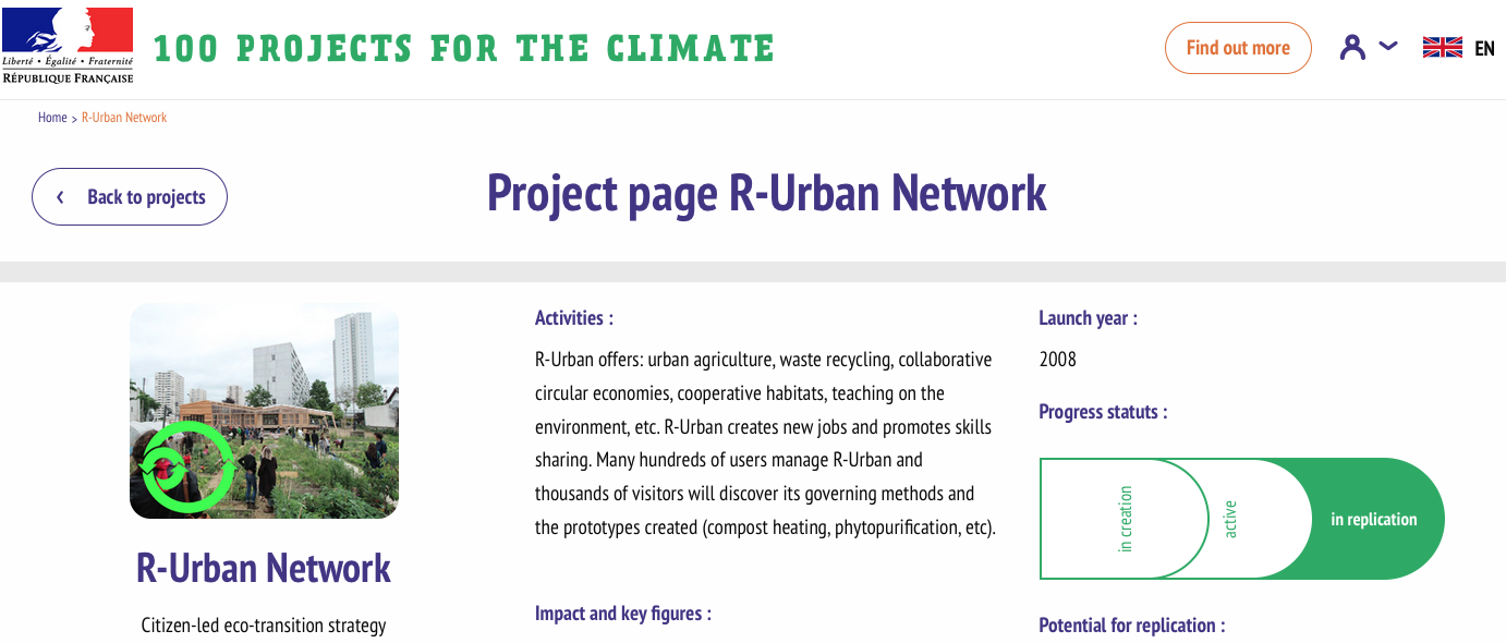 100projects for the climat