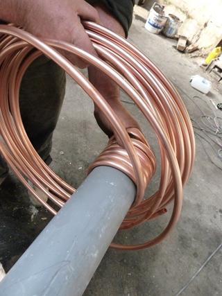 mise en forme du tuyau spiralé