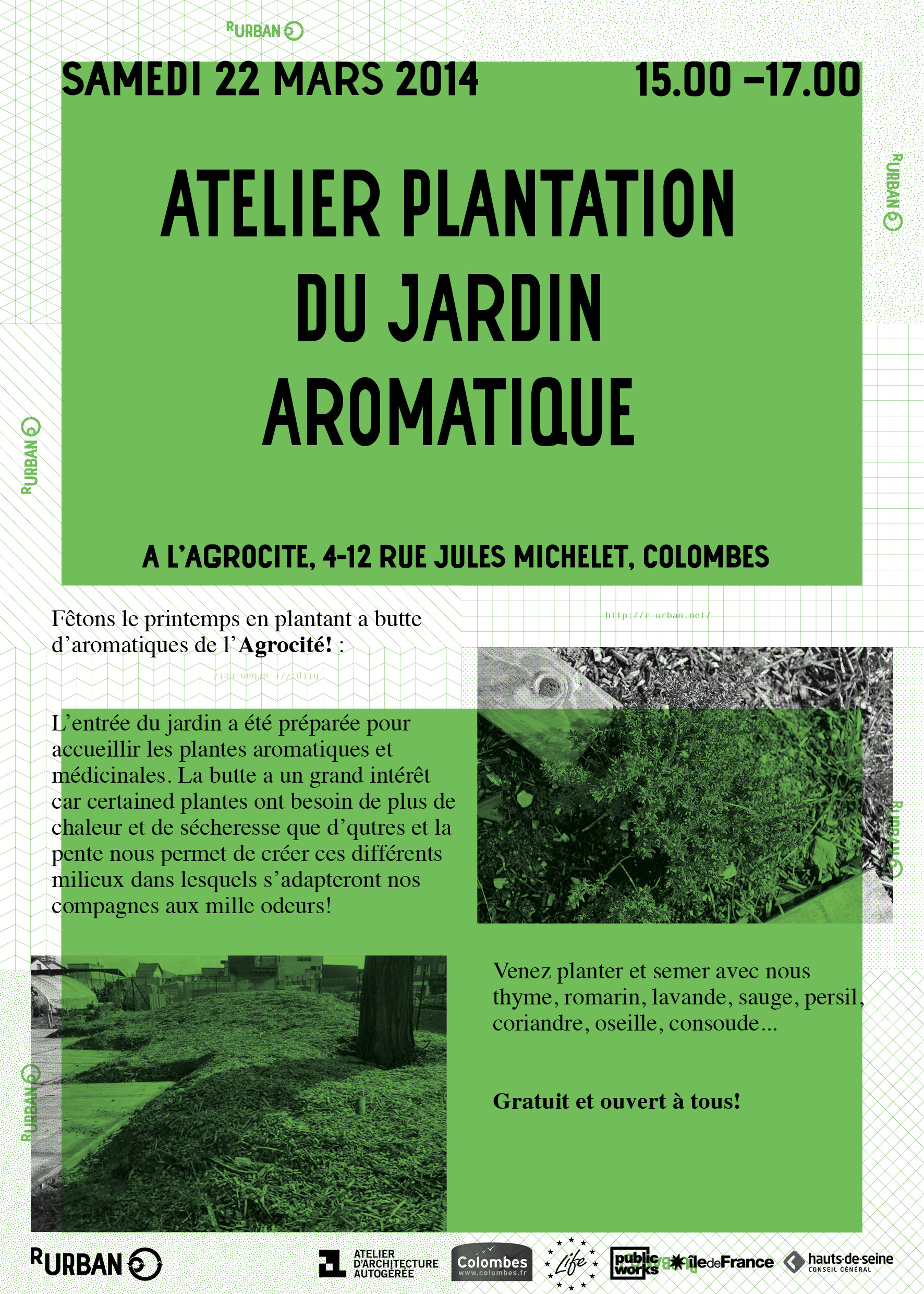 Atelier plantation du jardin aromatique r urban for Jardin plantation