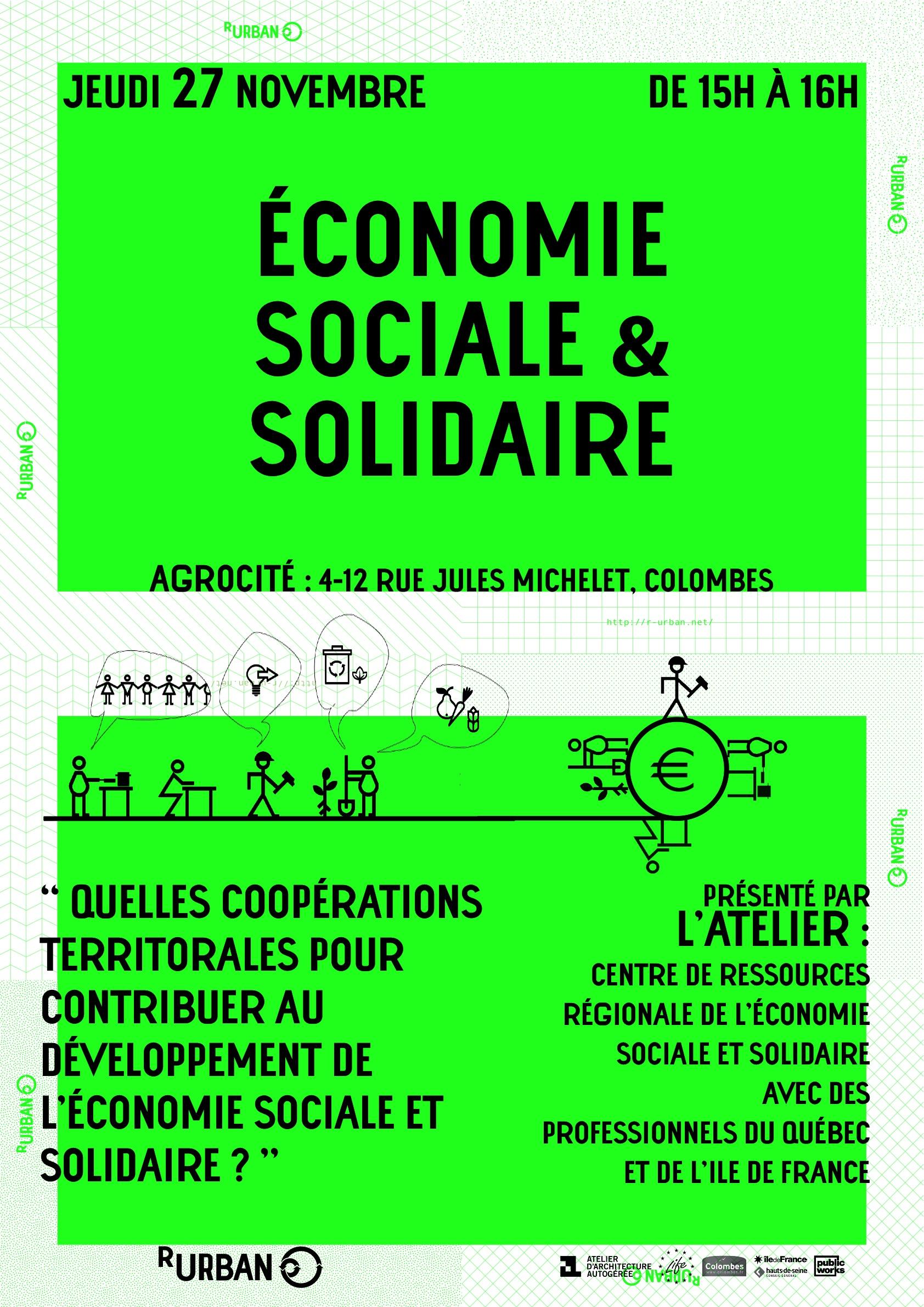 Activit s de la fin du mois de novembre r urban - Chambre regionale de l economie sociale et solidaire ...