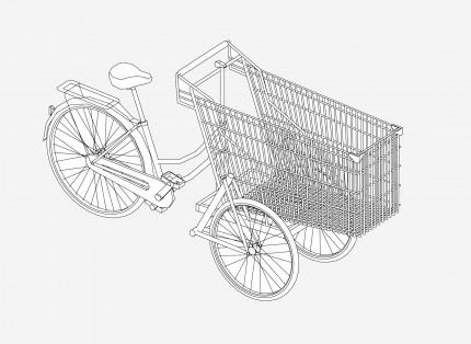 schéma vélo cargo bon
