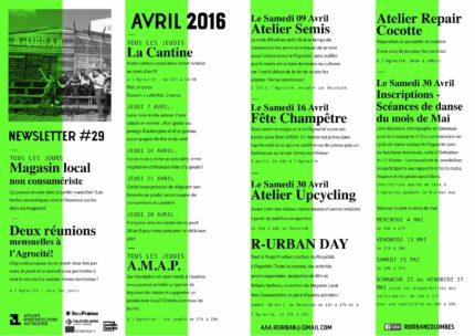 NewsletterAvril 2016