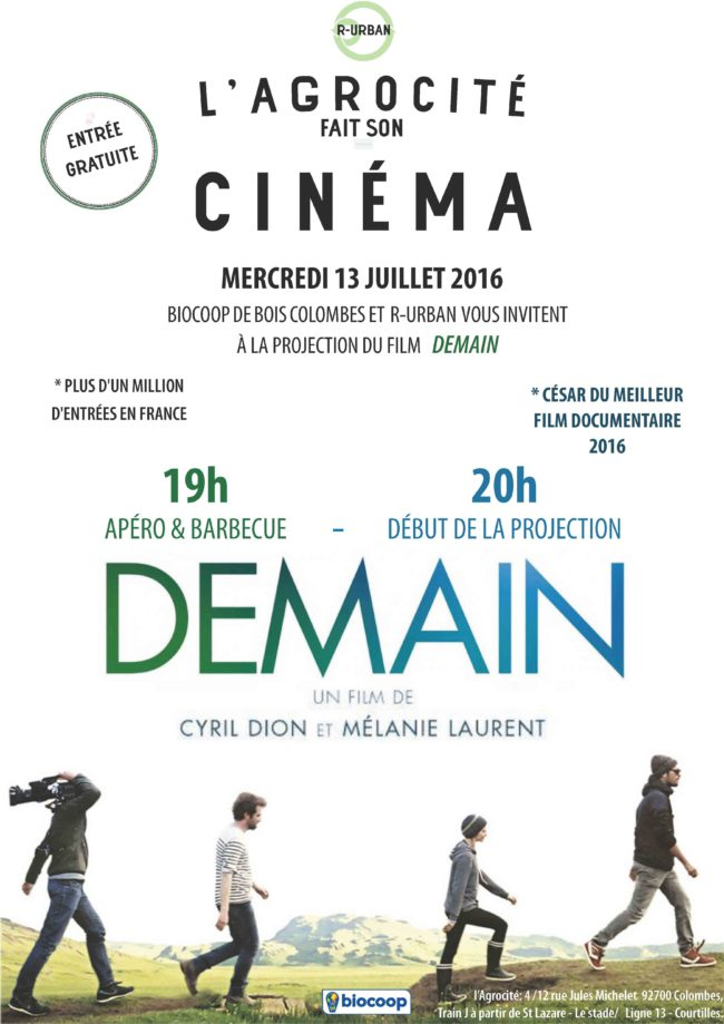 affiche projection DEMAIN 4